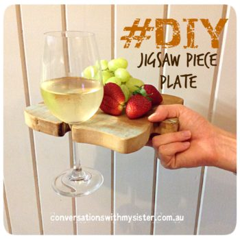 || #DIY Jigsaw Piece Plate - Out OF The Man Cave || conversationswithmysister.com.au