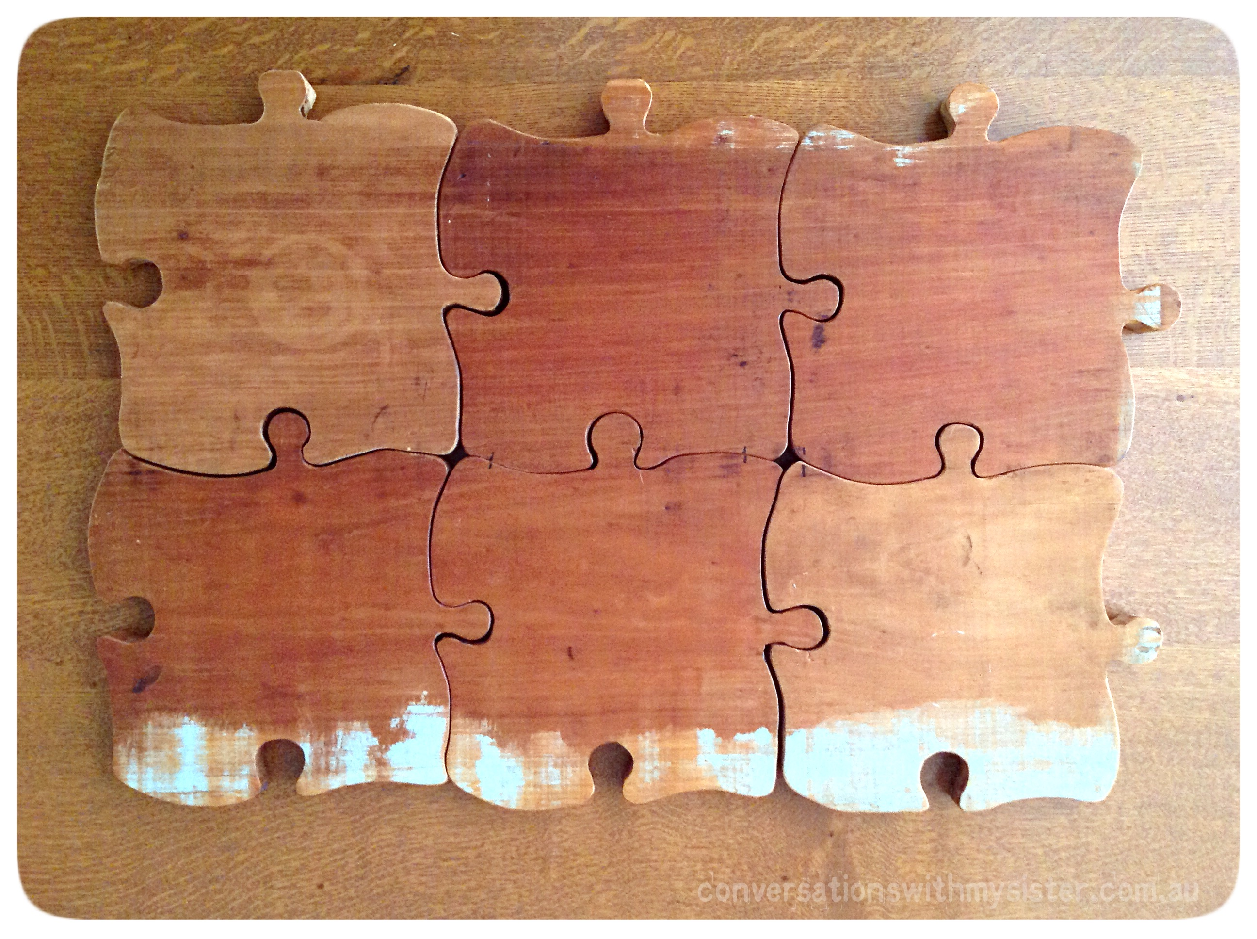 #DIY Jigsaw Piece Plate – Out of the Man Cave