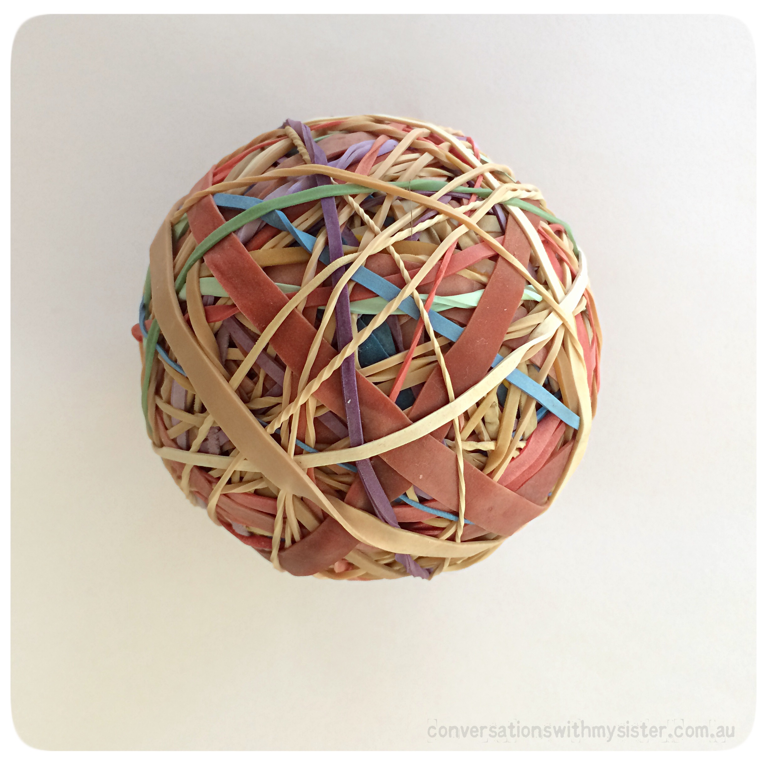 3 Easy Steps to Making a Rubber Band Ball_conversationswithmysister.com.au