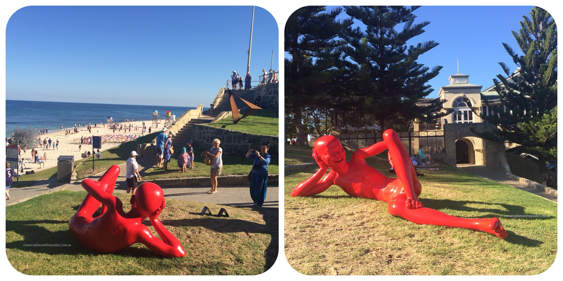 conversationswithmysister_sculptures by the sea