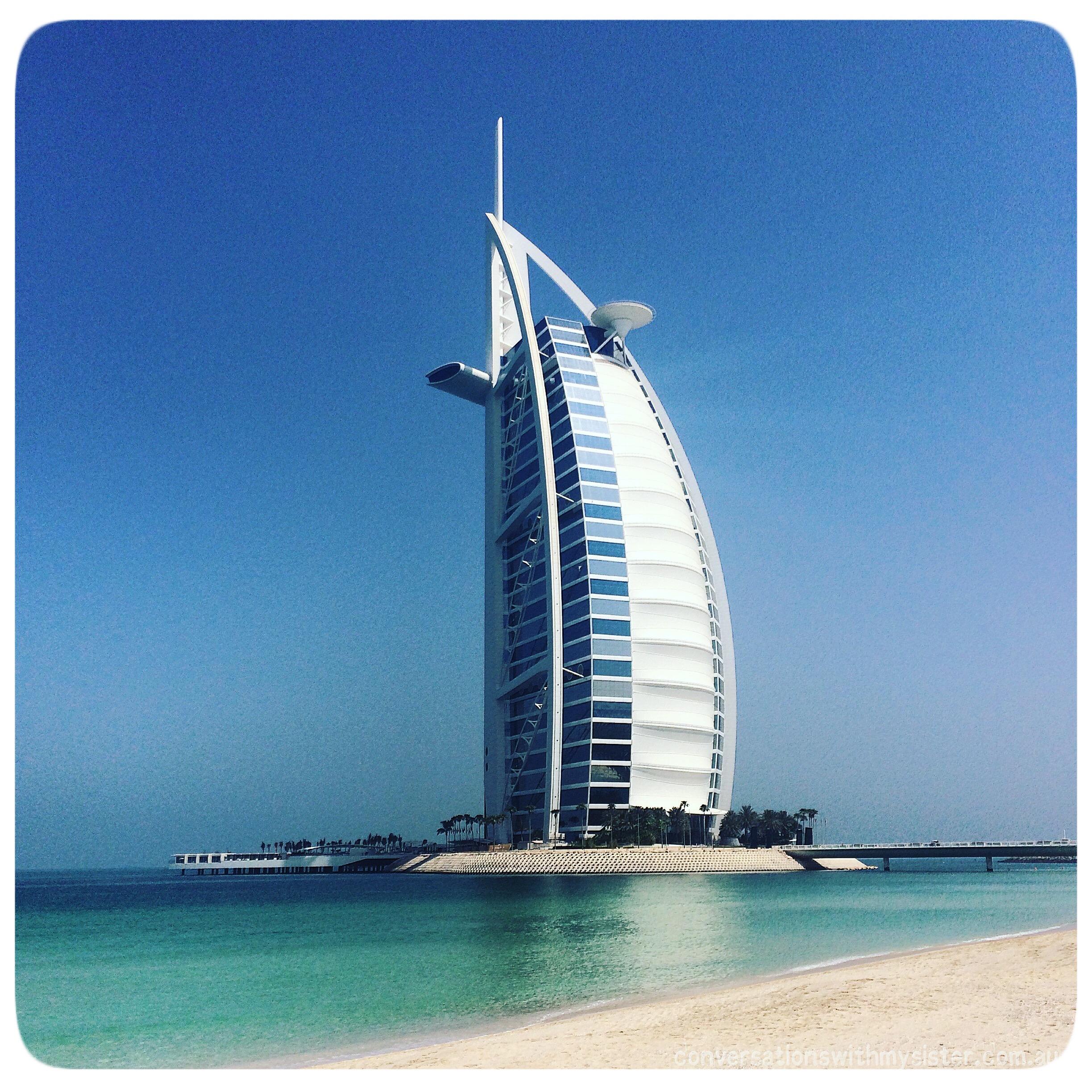 conversationswithmysister_madinat jumeirah_Burj Al Arab