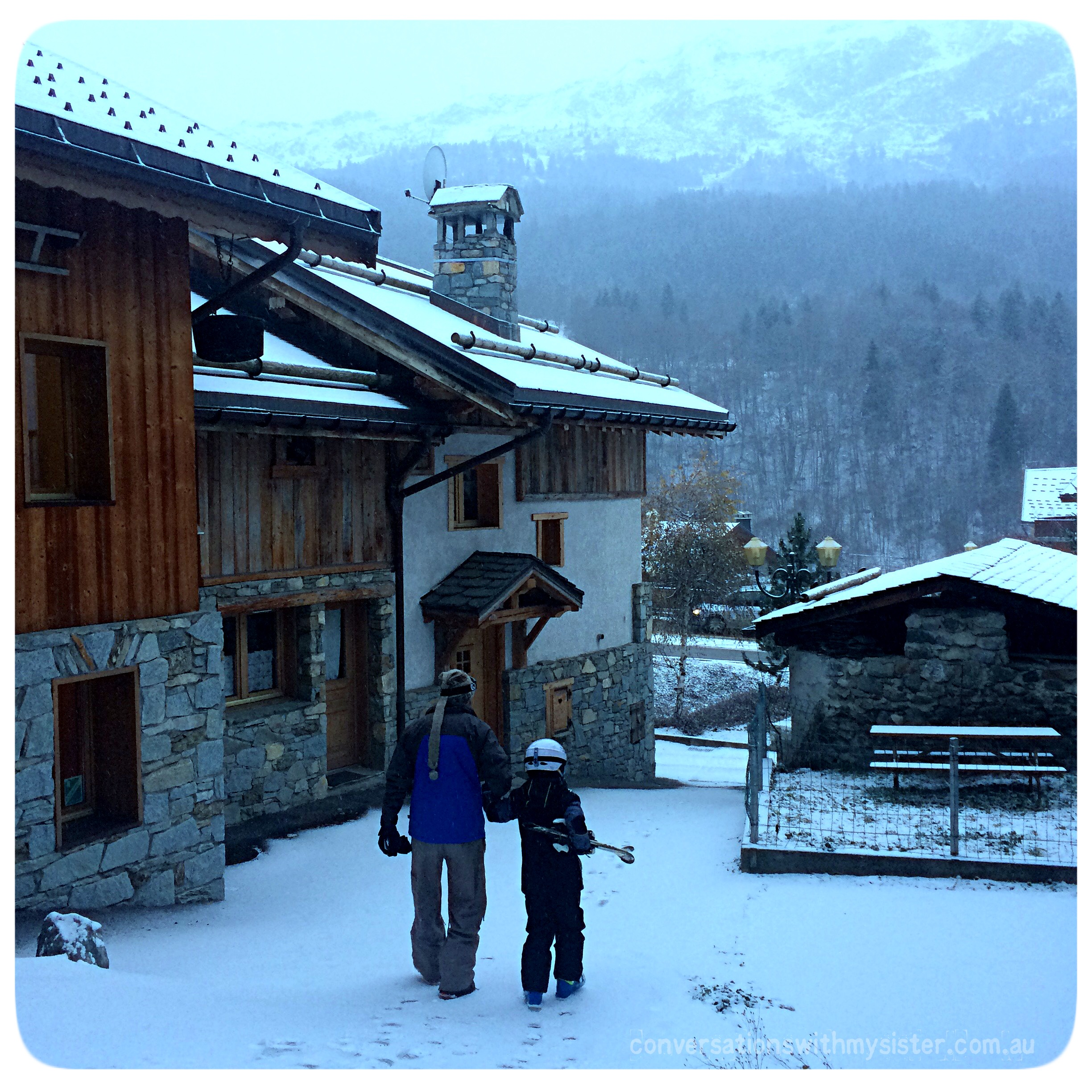 conversationswithmysister_Family Snow Holiday in Meribel