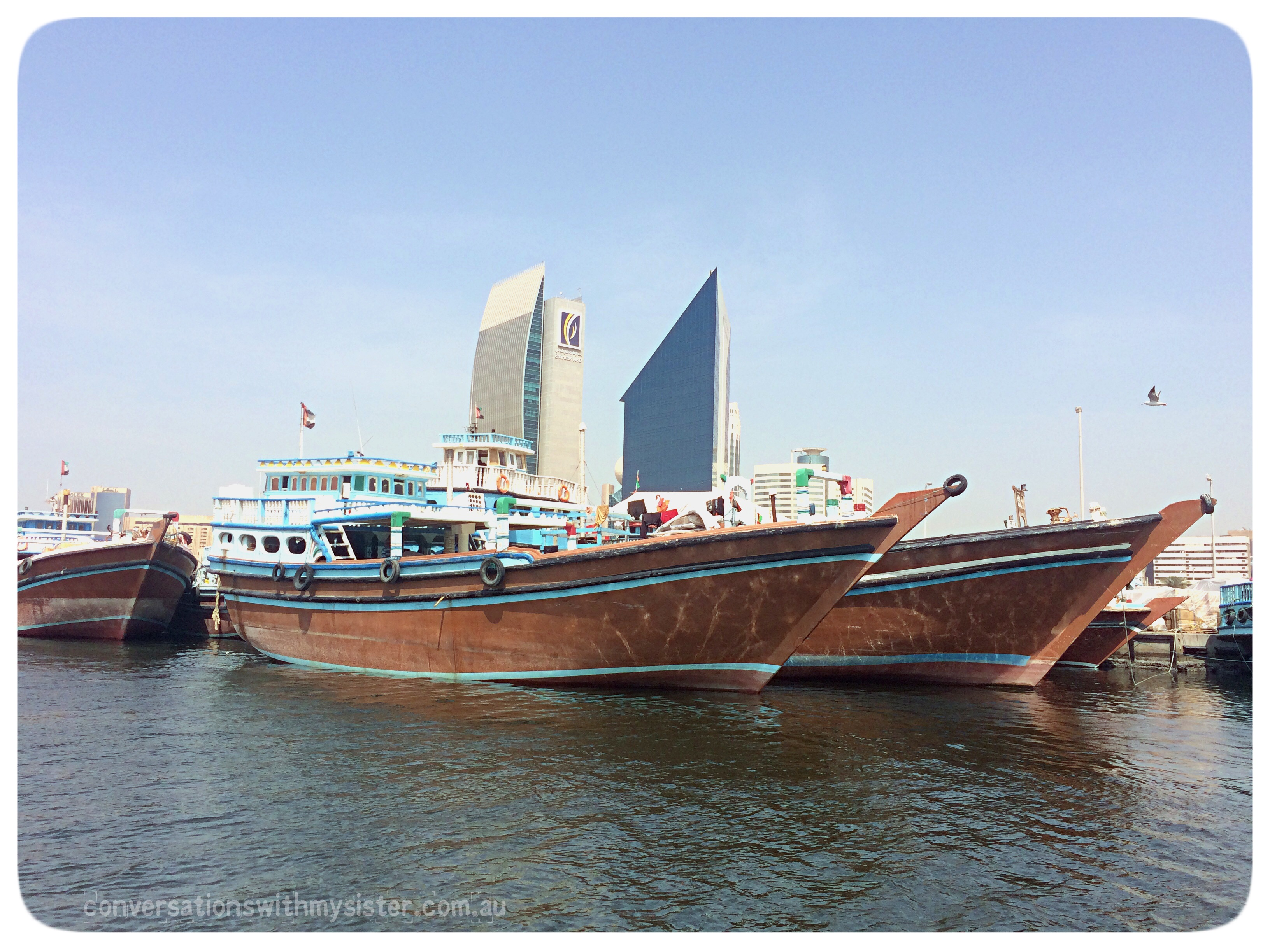conversationswithmysister.com.au_Dubai Creek_Dhow